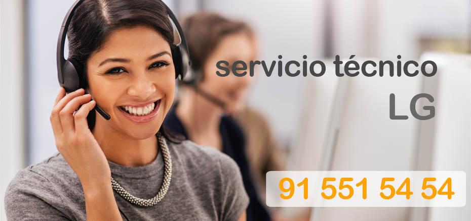 Telefonos del servicio tecnico LG en Madrid