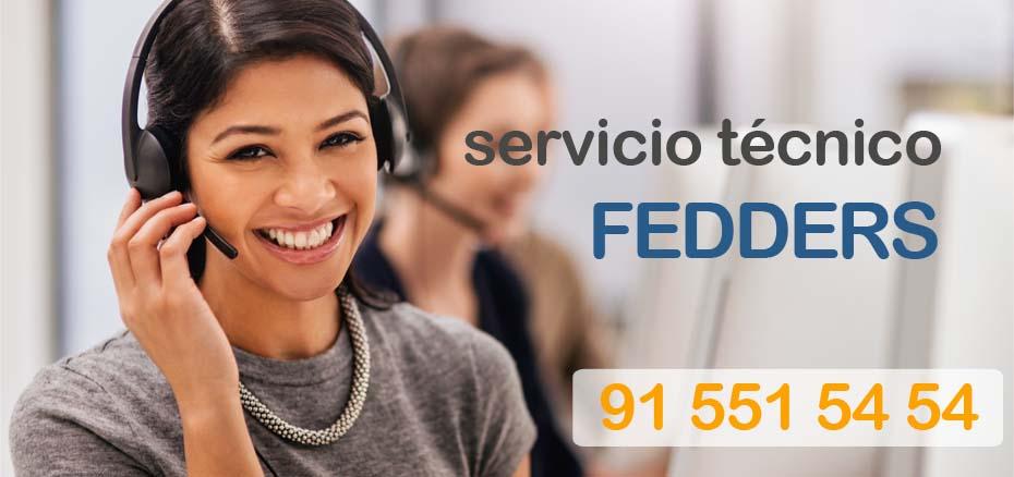 Telefonos servicio tecnico aire acondicionado Fedders Madrid