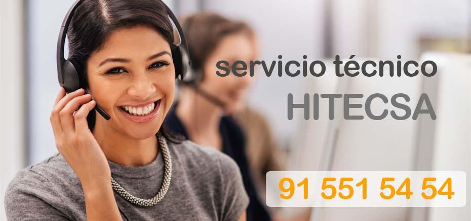 Telefonos del servicio tecnico aire acondicionado Hitecsa Madrid