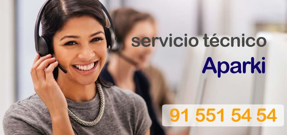 Telefonos servicio tecnico electrodomesticos Aparki Madrid